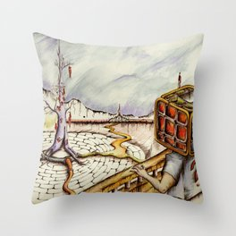 """Cubical"" Throw Pillow"
