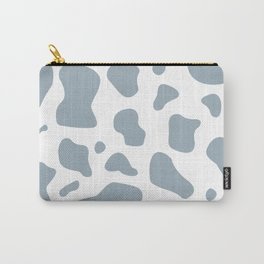Blue cow print pattern, mooo Carry-All Pouch