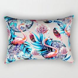 American flamingos boho pattern Rectangular Pillow