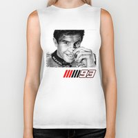 marc Biker Tanks featuring The champ Marc Marquez by Mike Sarda