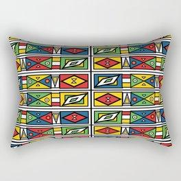 African geometric print Rectangular Pillow