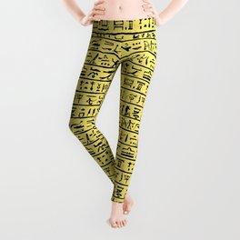Egyptian Hieroglyphics // Yellow Leggings