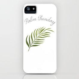 Palm Sunday Leaf iPhone Case