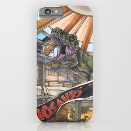 When Dinosaurs Ruled the Earth - Jurassic Park T-Rex iPhone Case