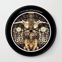 The Garden of Good and Evil (Titled Version) Wall Clock