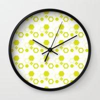 polygon Wall Clocks featuring Polygon by Julianne Chia