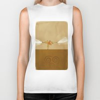 avatar the last airbender Biker Tanks featuring Avatar Aang by daniel