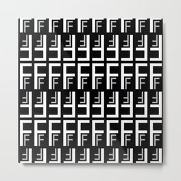 F (Black Background) Metal Print