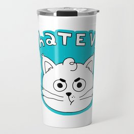 This cat does not care. Travel Mug