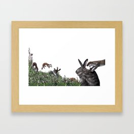 The Weasel War Dance Framed Art Print