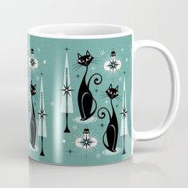 Mid Century Meow Atomic Kitty Christmas ©studioxtine Coffee Mug