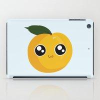 peach iPad Cases featuring Peach by GarethAdamson