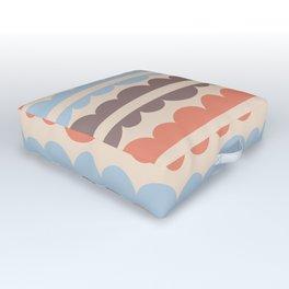 Mordidas Blue Retro Outdoor Floor Cushion