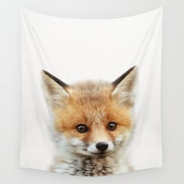Baby Fox, Baby Animals Art Print By Synplus Wall Tapestry