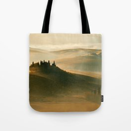 Sunrise in Val D'Orcia Tote Bag