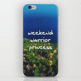 Weekend Warrior Princess iPhone Skin