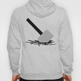 Thor Hammer In The Ground Hoody
