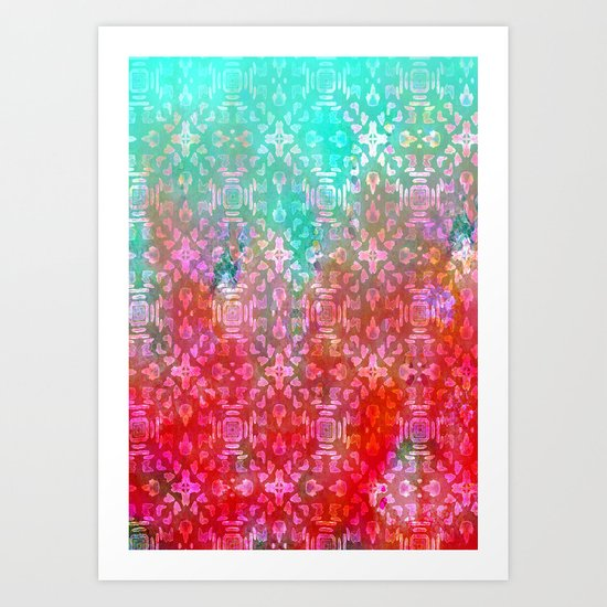 Blushing Tribal  Art Print