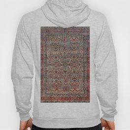 South Persia 19th Century Authentic Colorful Red Pink Blue Vintage Patterns Hoody