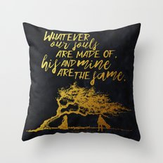 Wuthering Heights - Souls - Gold Foil Throw Pillow