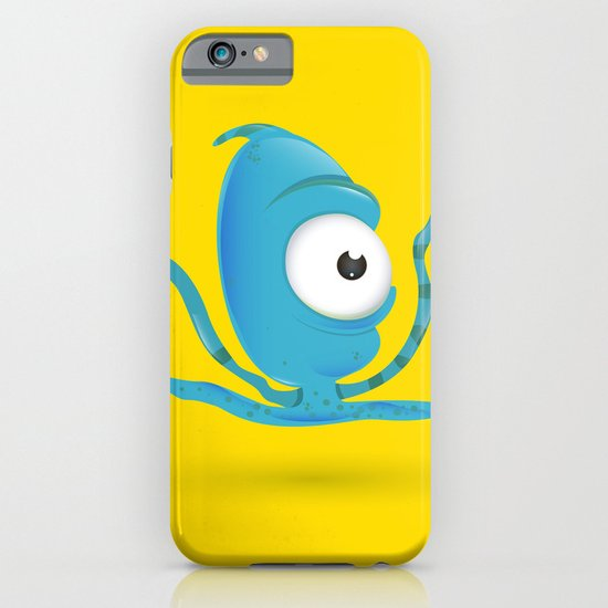 Octopus Blue/Yellow iPhone & iPod Case
