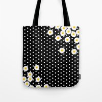 daisy Tote Bags featuring DAISY by Monika Strigel®