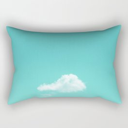 Nube cian Rectangular Pillow