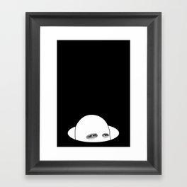 Hiding From Reality Framed Art Print