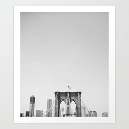 Fourth of July on Brooklyn Bridge Art Print