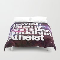 religion Duvet Covers featuring RELIGION by CHAD MIZE /// CHIZZY