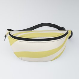 Cute Yellow Cream Zebra Stripes ! Fanny Pack