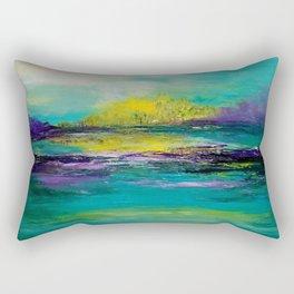 Sunset in Teal Rectangular Pillow