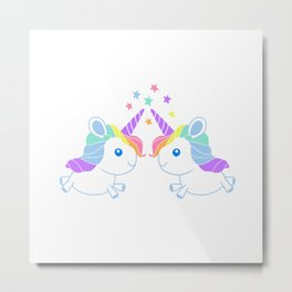 Unicorn Twins Metal Print