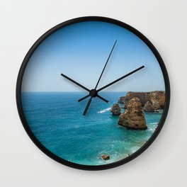 Beach at Lagoa, Algarve, Portugal Wall Clock