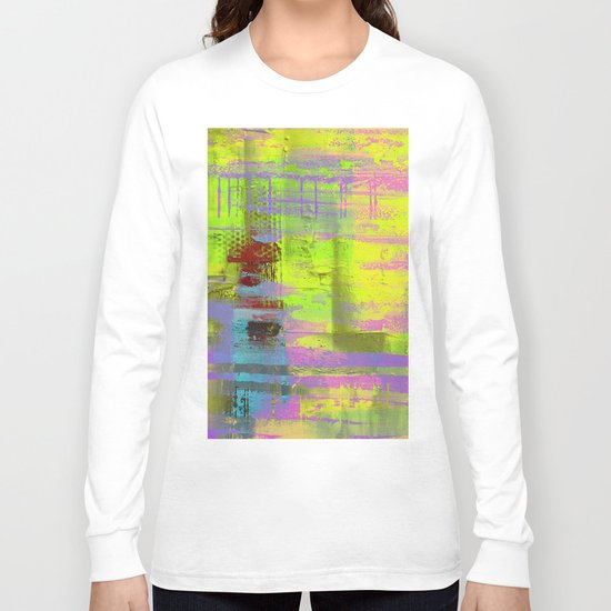 Abstract Thoughts 3 - Textured painting Long Sleeve T-shirt