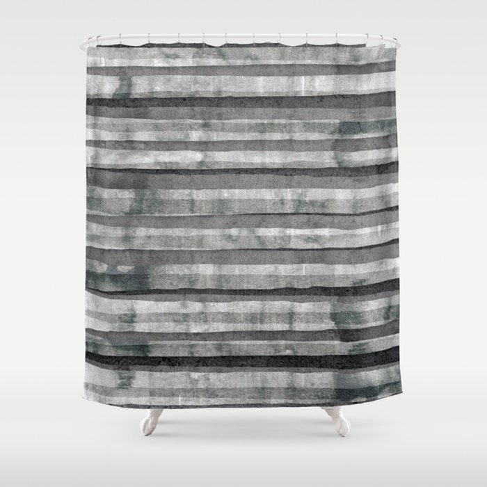 Birch Dust Leather Shower Curtain By Casualforyou