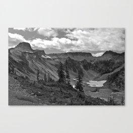 heather meadows, wa, usa  b&w Canvas Print