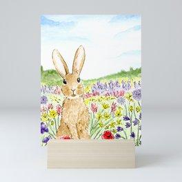 Bunny in the Meadow Mini Art Print