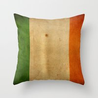 ruben ireland Throw Pillows featuring Ireland by NicoWriter