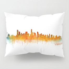 Vancouver Canada City Skyline Hq v02 Pillow Sham