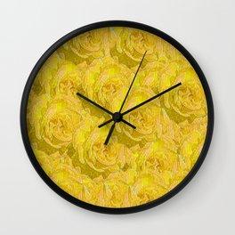 Summer roses dancing in the season Wall Clock