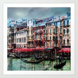 Venice Post Card Art Print