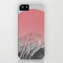 Dreaming of Pink Mountains iPhone Case