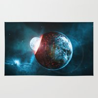 planet Area & Throw Rugs featuring Planet by Floyd Triangle