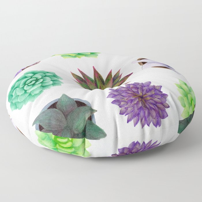 Succulent Friends Floor Pillow