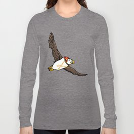 Puffin Wearing A Hat Long Sleeve T-shirt
