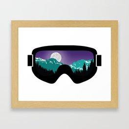 Moonrise Goggles   Goggle Designs   DopeyArt Framed Art Print