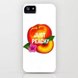 Just Peachy iPhone Case