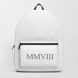 Roman Numerals - 2008 Backpack