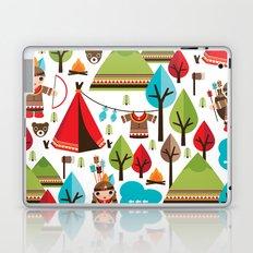 Cute indian haunting illustration pattern Laptop & iPad Skin